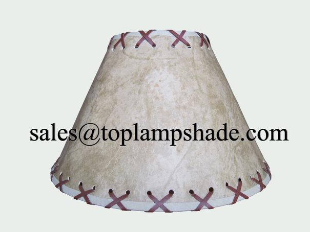 faux leather lamp shade