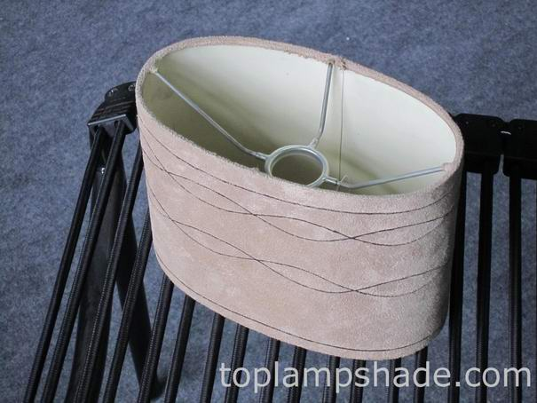 Oval Faux Suede Hardback Lamp Shade LS16001