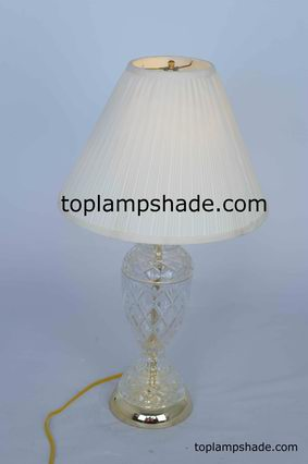Empire Mushroom Pleated Fabric Table Lampshade-LS1659