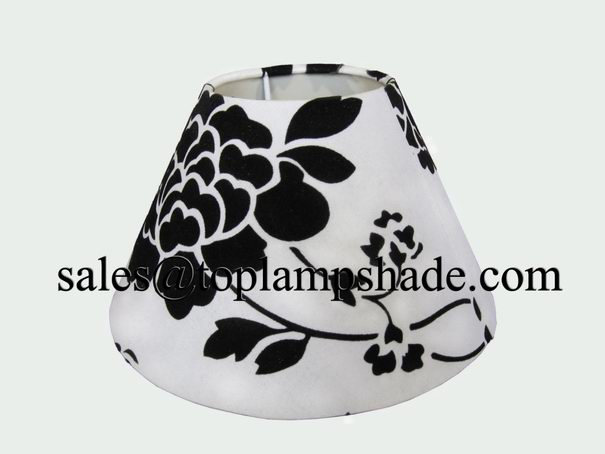 Embroidered Fabric Hardback Table Lamp Shade-LS17102