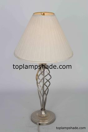 Empire Mushroom Pleated Fabric Table Lampshade-LS1823