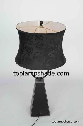 Black Floral Table Lampshade Ls1868 Manufacturer