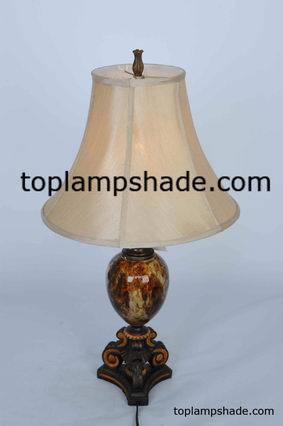 Empire Bell Fabric Table Lampshade-LS1914