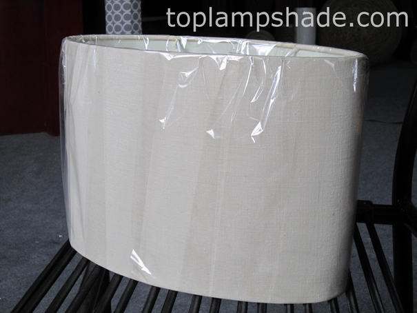 High Quality Oval Linen Hardback Lamp Shade LS2001