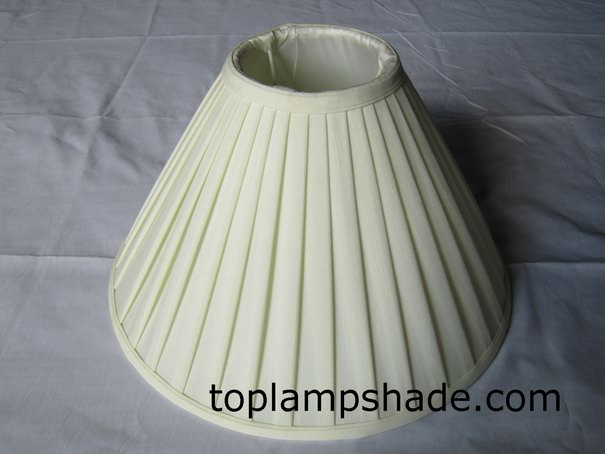 Faux Silk Roll Pleated Table Lamp Shade-LS5001