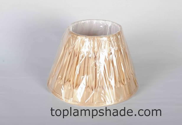 Empire Double Pleated Silk Lamp Shade-LS9005