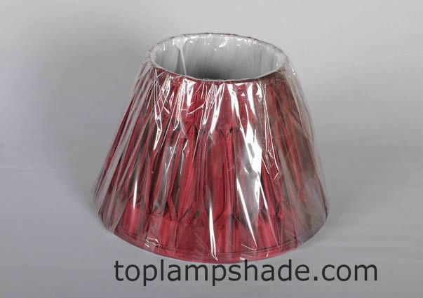 Empire Double Pleated Silk Lamp Shade