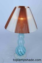 Silk Ribbon Wrapped Table Lampshade-LS1643