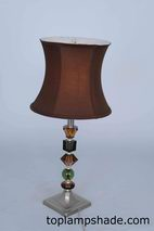 Deep Curve Bell Fabric Table Lampshade-LS1754