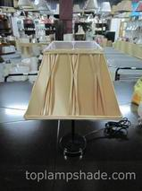 Rectangle Faux Silk Smocked Pleated Table Lamp Shade-LS5002