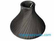 Satin Swirl Pleated Lamp Shade
