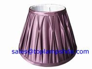 pinch pleated lamp shade
